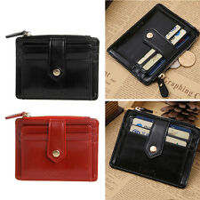Men Women Wallet Money Clip Credit Card Holder ID Business Faux Leather Purse