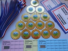 TENNIS - 50 MM METAL MEDALS WITH RIBBON X 15 CERTIFICATES AND SCRATCH CARDS