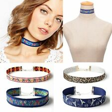 Flower Multicolor Jewelry Ethnic Necklace Bohemian Choker Embroidery