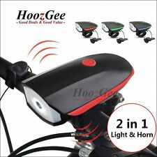 USB Rechargeable LED Bicycle Bike Cycling Front Lamp Headlight With Speaker Horn