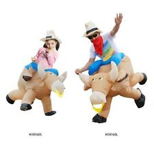 New Inflatable Cattle Costume Suit Bull Style Inflatable Jumpsuit Polyester X0N4