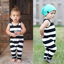 Baby Boy Summer Casual Romper Sleeveless Stripe Jumpsuit Playsuit Outfits