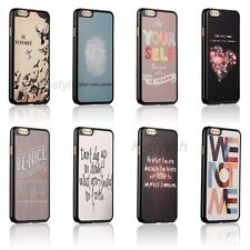 Life Motivation Quote Hard Back Skin Cover Case For Apple iPhone 6 6 Plus +Film
