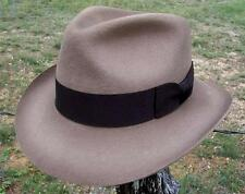 NEW Henschel Hats INDY Outback Lined WOOL Fedora Trilby Hat Stained Rust NWT