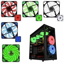 120mm 3/4-pin Computer Case PU Bearing Cooler Cooling Fan Mod with LED Light