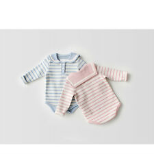 New Rompers Clothes Long Sleeve Striped Print  Cotton Triangle Jumpsuit For Baby