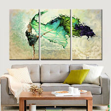Canvas Painting Home Decor Wall Art Dancing Girl for Living Room No Frame 3pcs