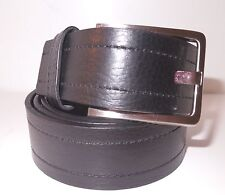 Calvin Klein Mens Black Pebble Double Stitch Genuine Leather Belt Size 40