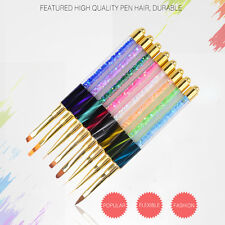 NEW Nail Art Tips UV Gel Crystal Acrylic Painting Drawing Pen Polish Brush Pen