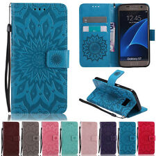 Deluxe Sunflower Stand Wallet Leather Flip Case Cover For Samsung Galaxy Models