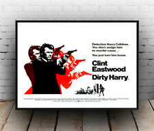Dirty Harry , Vintage Movie advertising Poster reproduction.