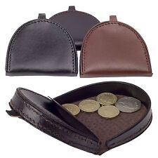 NATURAL LEATHER COIN WALLETS COIN PURSE WALLET CHANGE POUCH COIN TRAY