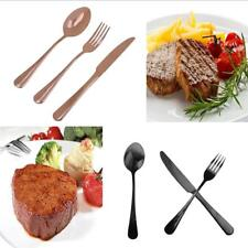 1 Set Knife Fork Spoon Stainless Steel Cutlery Kitchen Tableware Chic Gift PICK
