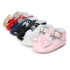 Cute Baby Girl Bow-knot Princess Shoes Toddler Infant Crib Shoes Anti-Slip 0-18M