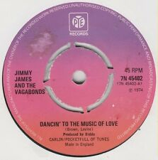 "Jimmy James & The Vagabonds-Dancin' To The Music Of Love 7"" 45-Pye Records, 7N 4"