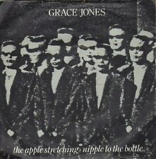 "Grace Jones-Apple Stretching 7"" 45-ISLAND, WIP6779, 1982, Picture Sleeve Wrting"
