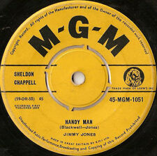 """Jimmy Jones-Handy Man / The Search Is Over 7"""" 45-MGM Records, MGM 1051, 1959, Pl"""
