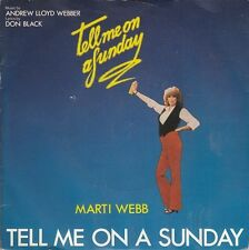 """Marti Webb-Tell Me On A Sunday / You Made Me Think You Were In Love 7"""" 45-Polydo"""