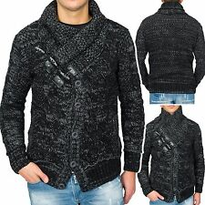 Men's Pullover Sweater Toggles Norwegian Knitted Cardigan funnel - neck