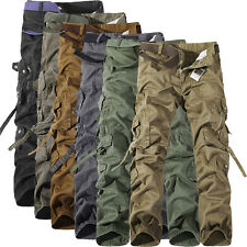 Stylish Men's Pants Casual Outwear Solid Color Bib overall Straight Trousers