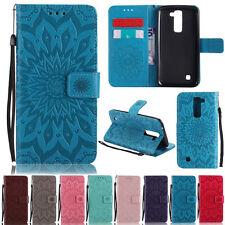Luxury Sunflower Wallet Leather Skin Flip Case Cover Stand Slots For LG Models