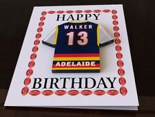 Adelaide Crows - PERSONALISED Greetings Card (inc Removable Fridge Magnet)