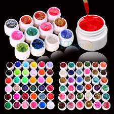 12/24/36Pc Solid Pure Mix Color UV Gel Acrylic Set Builder Polish Nail Art Decor