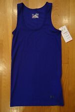 NWT UNDER ARMOUR PURPLE TANK TOP FITTED SHIRT WOMENS MEDIUM