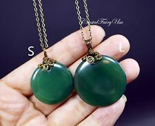 Wire Wrapped Green Agate Necklace - Natural Agate Stone Necklace - Heart Chakra