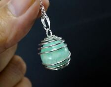 Natural Amazonite Necklace - Tiny Genuine Caged Stone Pendant - Natural Amazonit