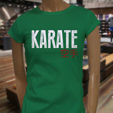 KARATE KANJI FIGHTING TRAINING MMA KUNG FU JAPAN Womens Green T-Shirt
