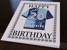 Wycombe Wanderers - PERSONALISED Greetings Card (inc Removable Fridge Magnet)