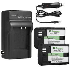 LP-E6 LPE6 Battery Pack + Charger For Canon EOS 7D 6D 5D 60D 70D Mark II III 2 3