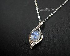 Sterling Silver Rainbow Moonstone Necklace, Moonstone Jewelry Moonstone Pendant