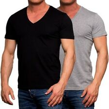 Young & Rich men's T-shirt Basic shirt Body Slim Fit V-Neck Tee New