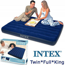 Intex Air Mattress Inflatable Pump Sleeping Pad Camping Twin Full Queen Size Bed
