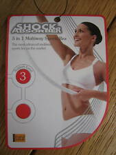 SHOCK ABSORBER breathable multiway sports bra 30 C BLACK dry level 3 support new