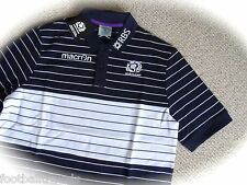 M L XL SCOTLAND MACRON RUGBY NAVY PLAYERS PIQUED POLO SHIRT jersey