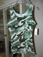 Misses Ladies Bobbie Brooks Camouflage Tank Top Small Medium Large
