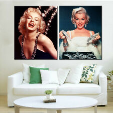 2PC Home Decor Marilyn Monroe Posters Wall Art Pictures for Living Room No Frame