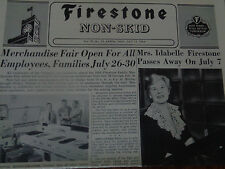VINTAGE LOT OF 3 1950'S FIRESTONE TIRE & RUBBER CO.  EMPLOYEE NEWSPAPERS RARE!
