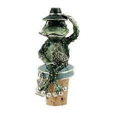 New Quest Hand Painted Frog Winestopper By Quest Gifts
