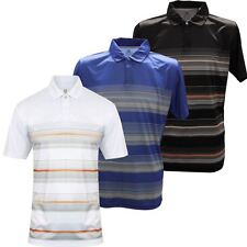 Island Green 2017 Concealed Placket Stripe Polo Performance Mens Golf Polo Shirt