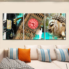 3PC Canvas Painting City Landscape Decor Painting Wall Pictures for Living Room
