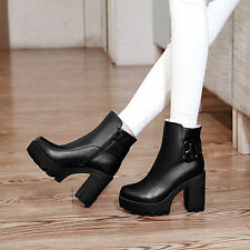 New Pumos Ankle Zip Women's Martin Boots High Heel Lady's Shoes AU All Size s133