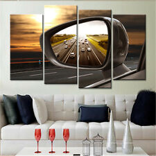 4PC No Frame Canvas Wall Painting for Living Room Nordic Car Landscape Cuadros