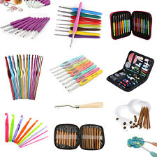 Mixed Soft Handle Bamboo Aluminum Crochet Hooks Knitting Needles Weave Yarn Set