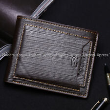 Pidengbao Classic Mens Bifold Wallet Leather Purse Cash Credit Cards Holder USA
