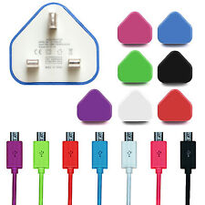 Micro USB Cable & Mains Wall Charger For Samsung Galaxy S7 Edge HTC Nokia