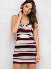 New Women's Minkpink Downtown Stripe Knit Dress